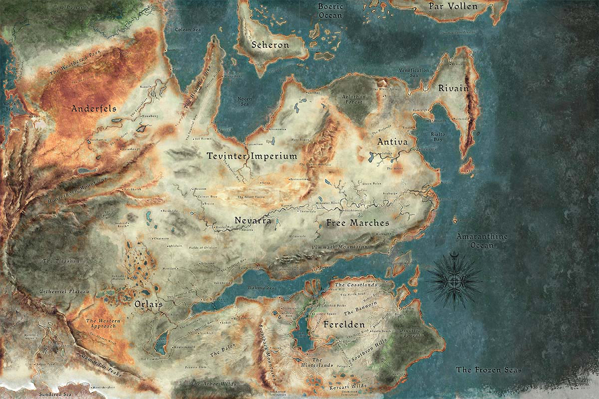 A map of Thedas.