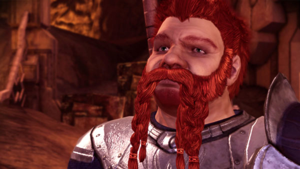 Oghren, a down on his luck dwarf.