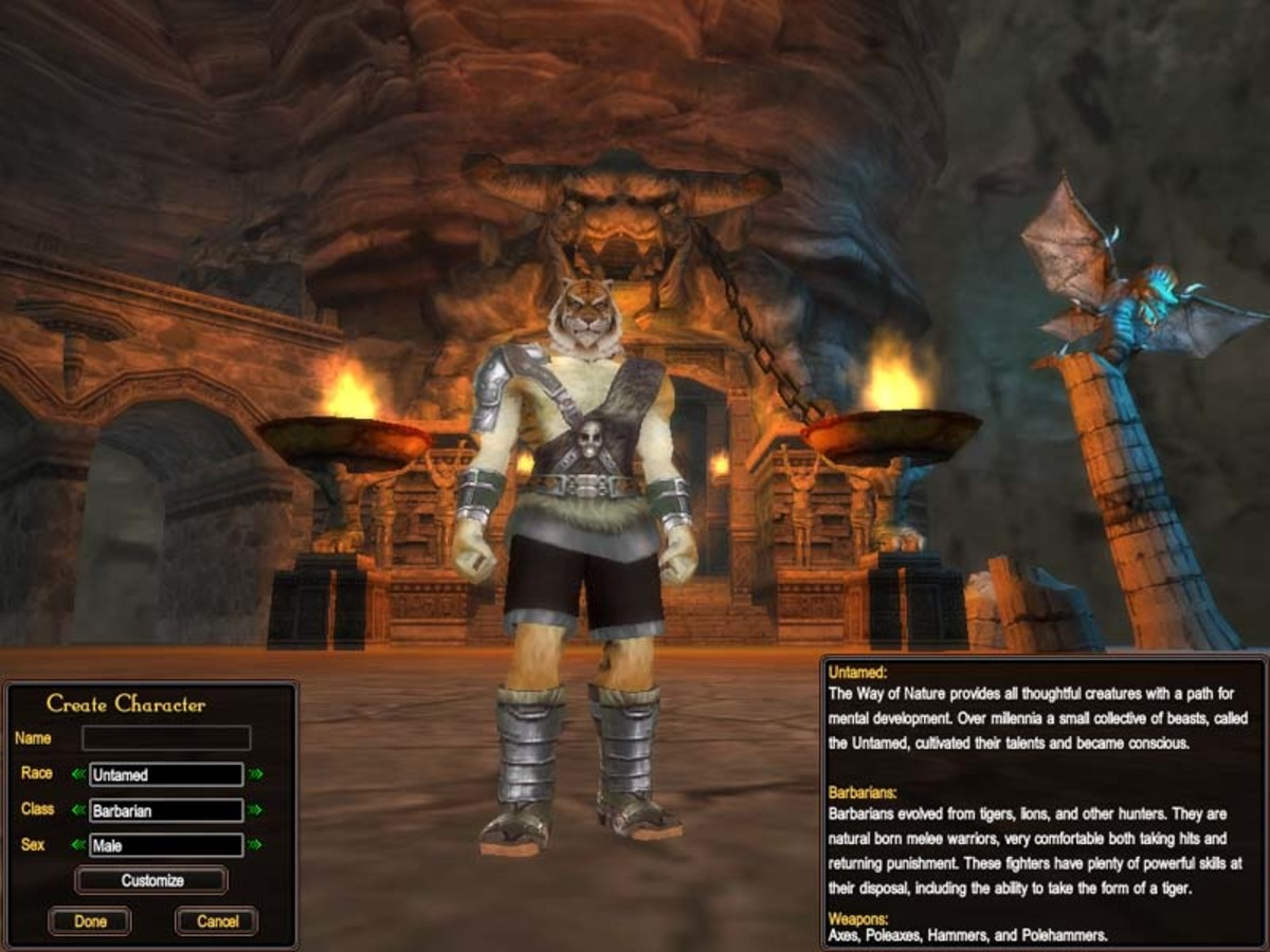 "Creating a Barbarian character in ""Perfect World International."""