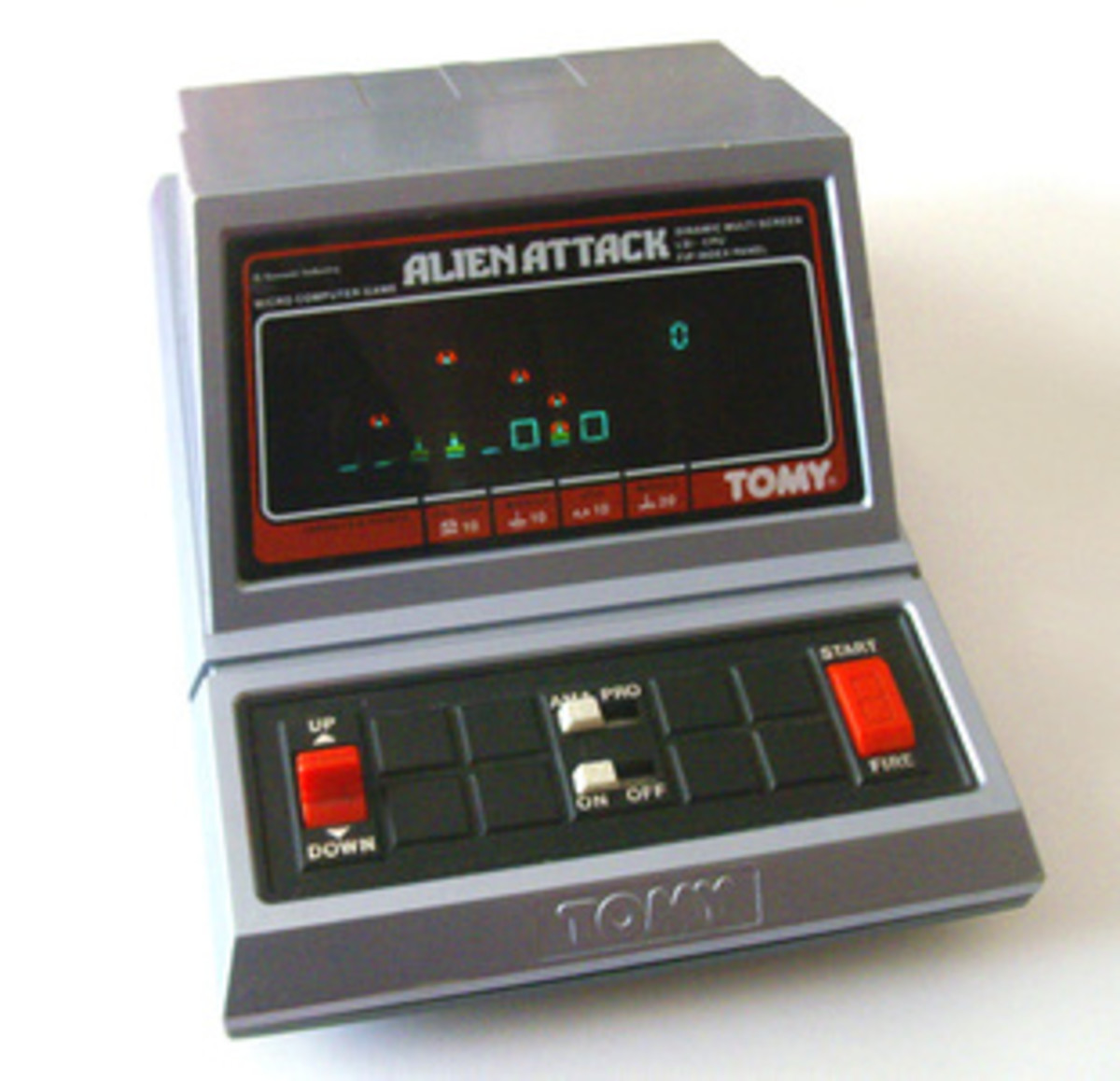 TOMY Alien Attack was the same game as Astro Blaster only housed in a different unit