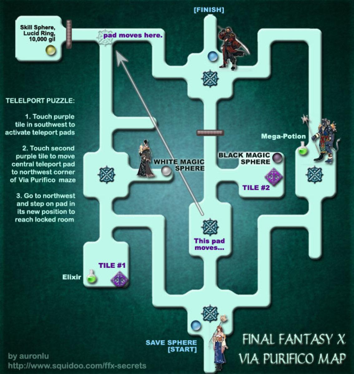 Final Fantasy X - Via Purifico Map