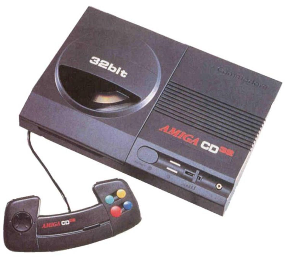 The classic Amiga CD32 console with controller