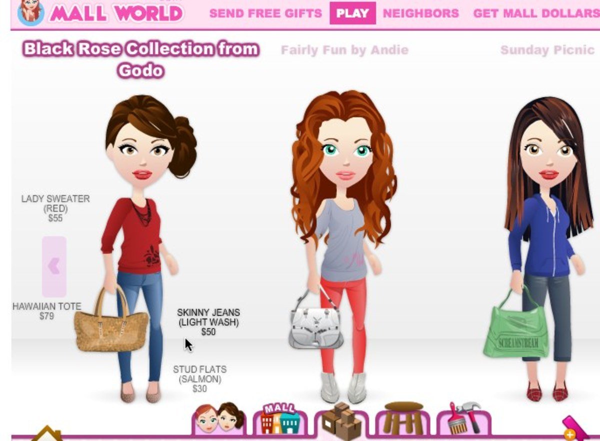 Shopping in the Facebook Mall World catalog (find the cheaper items that have the highest retail value!)