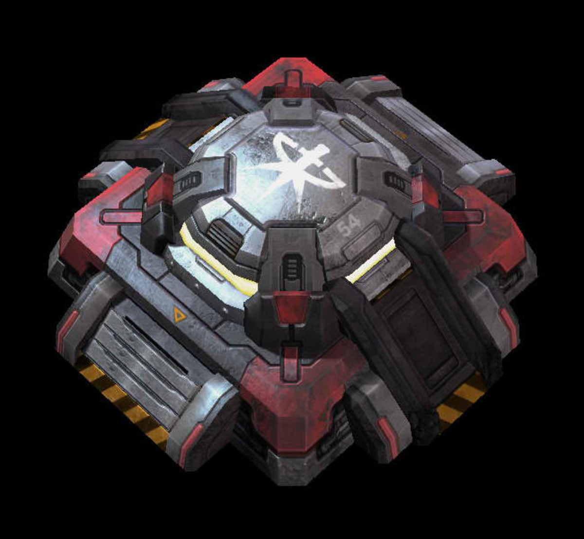 This is a Terran Bunker. When used in conjunction with Siege Tanks, it creates one heck of a difficult forward position to crack.