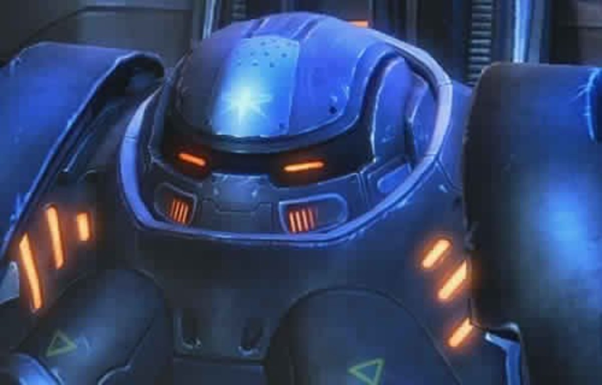 This is the portrait of the Terran Marauder. Learn to love them, especially at Brutal difficulty.