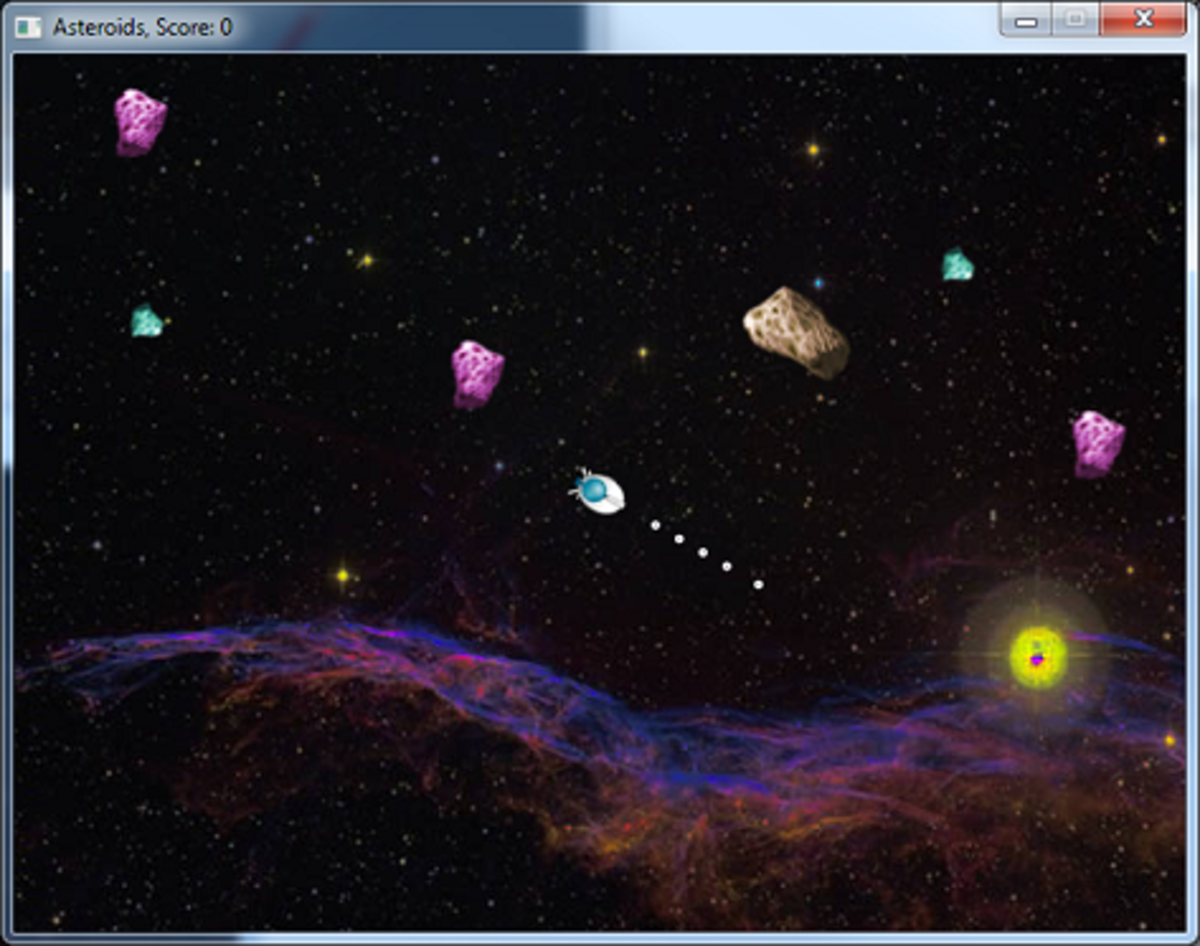 A modern take on a classic game—Asteroids is given a facelift.