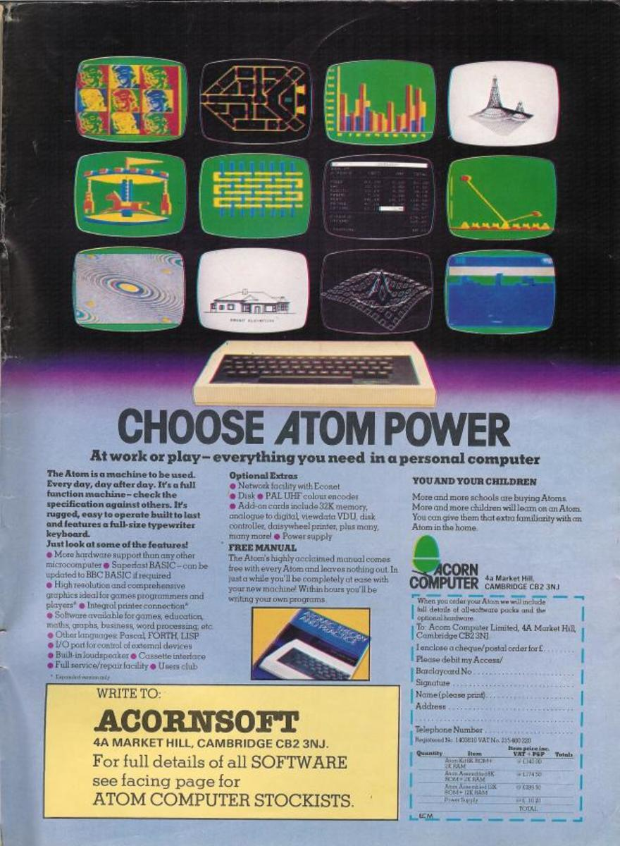 Choose the power of the mighty Acorn Atom!