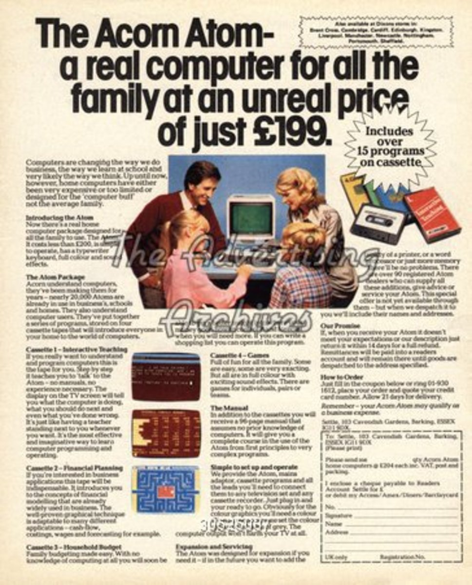 The Acorn Atom was reasonable at £199 - taken from The Advertising Archives