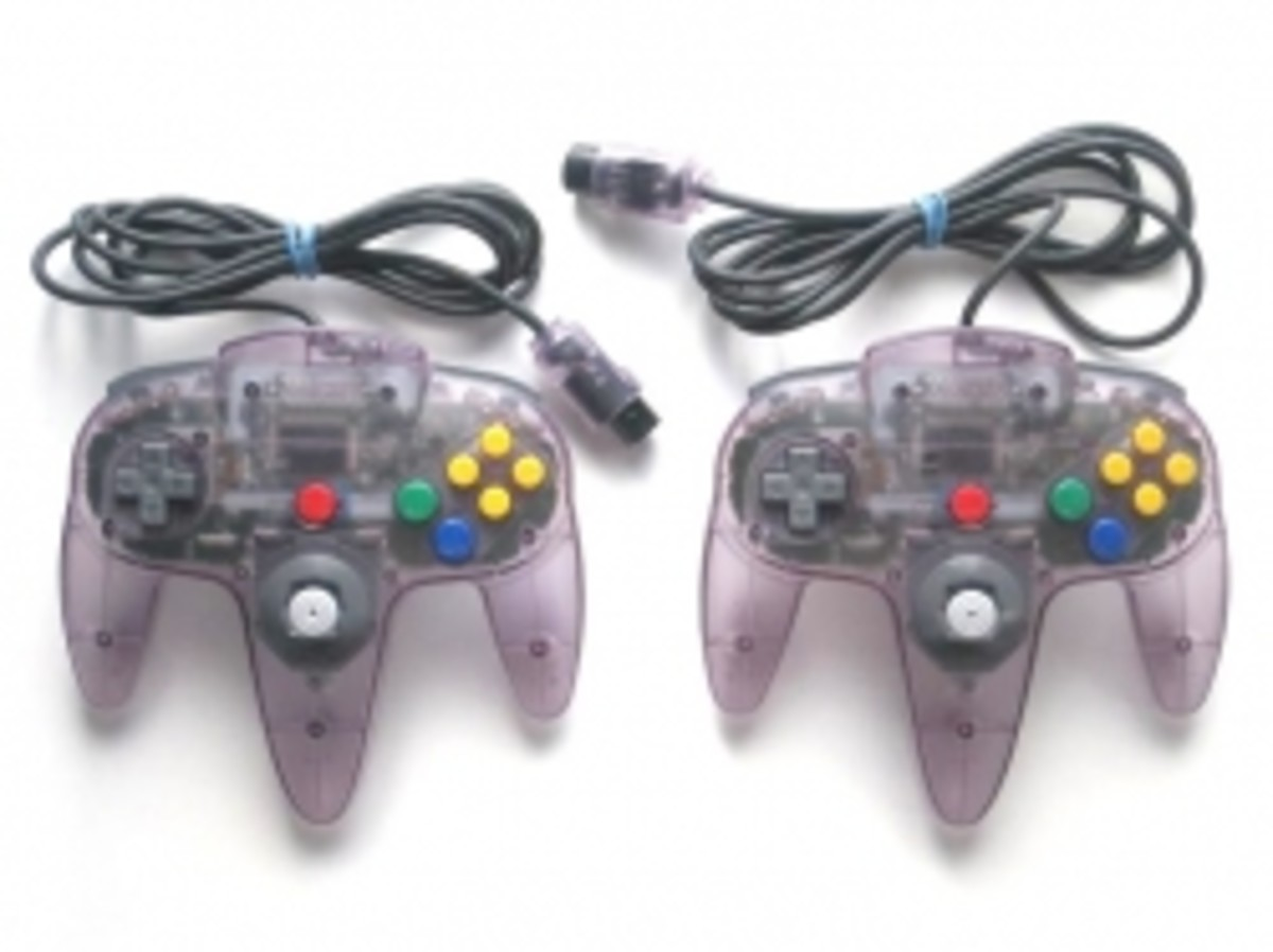 A Pair of Nintendo 64 Controllers