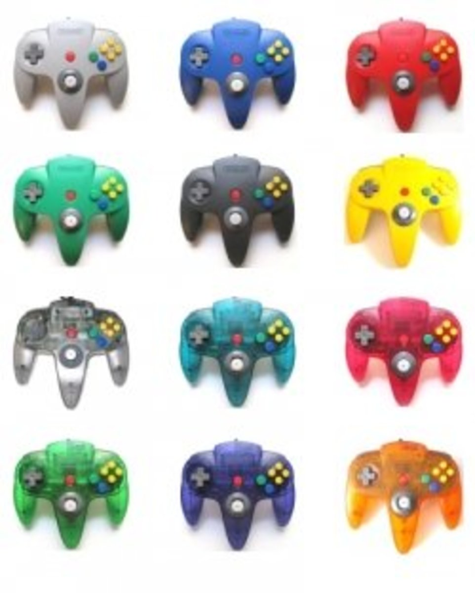 n64 controller color assortment