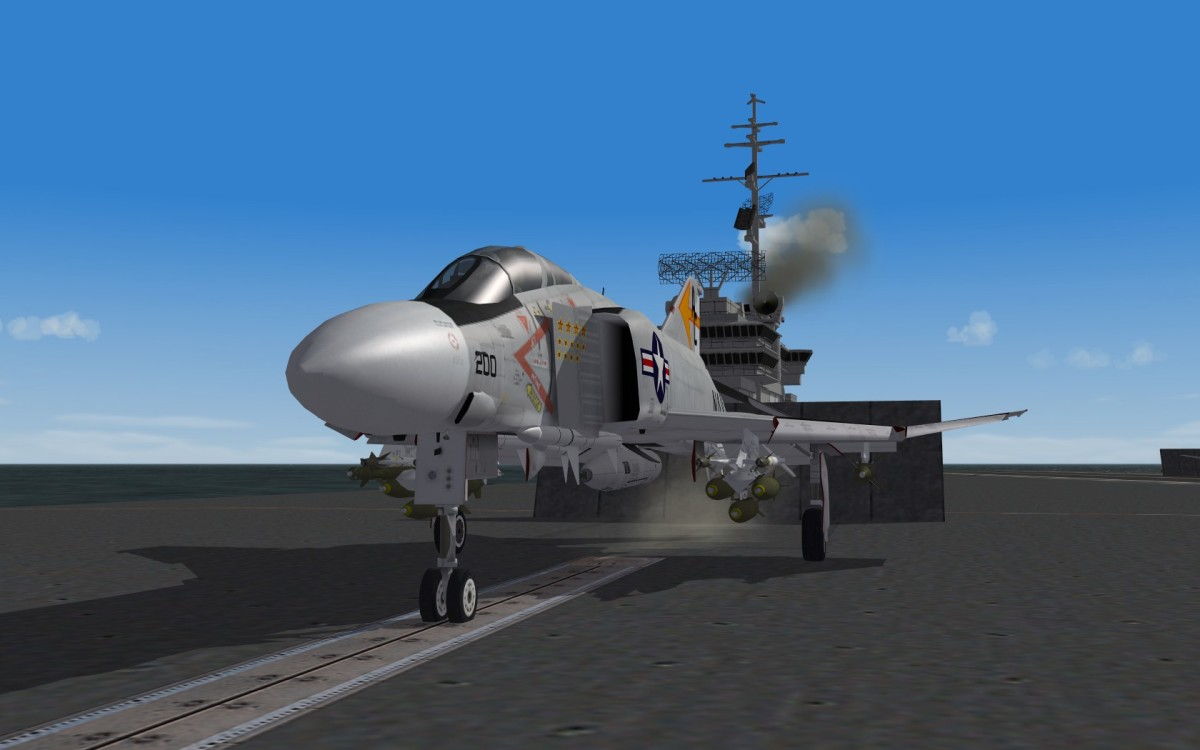 F-4 Phantom waiting on the ramp for take-off.