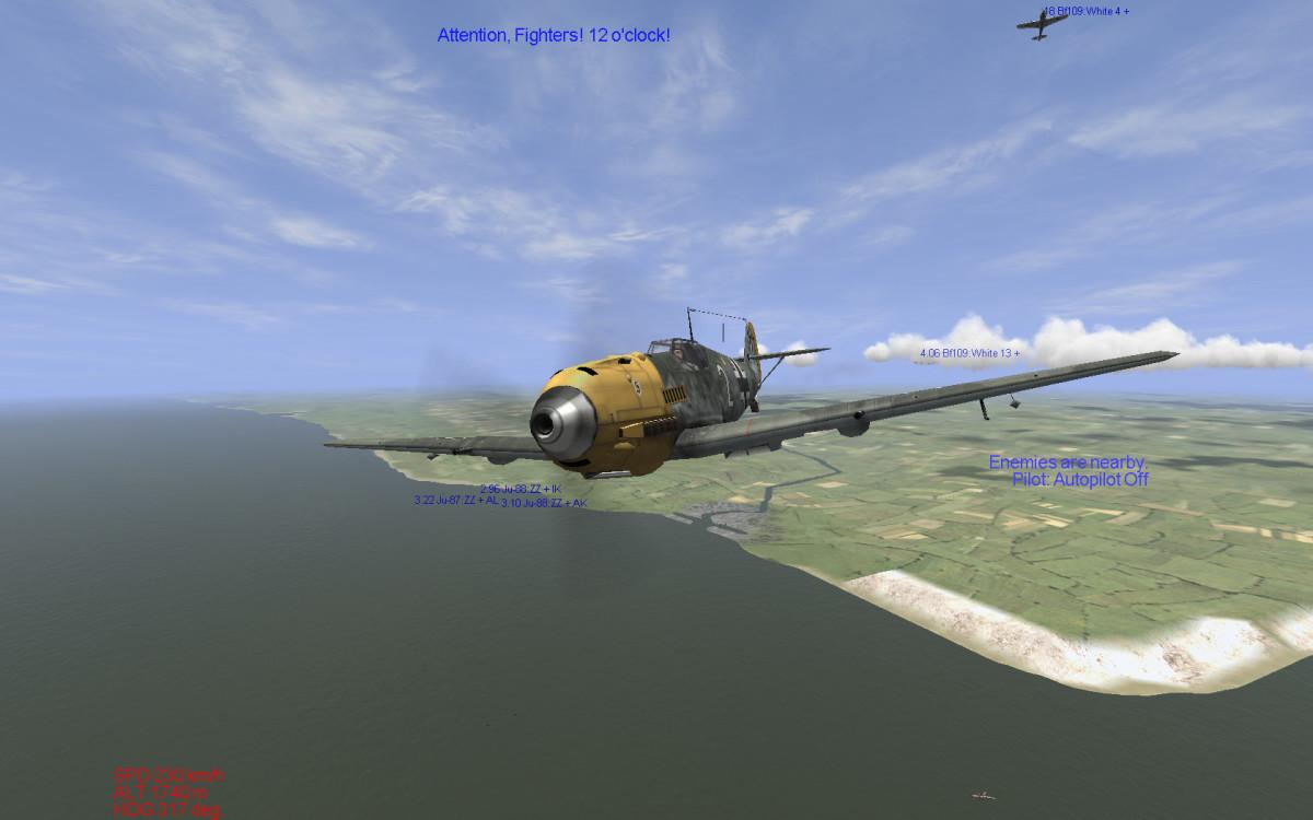 Il-2 Sturmovik 1946  BF-109 frontal view.