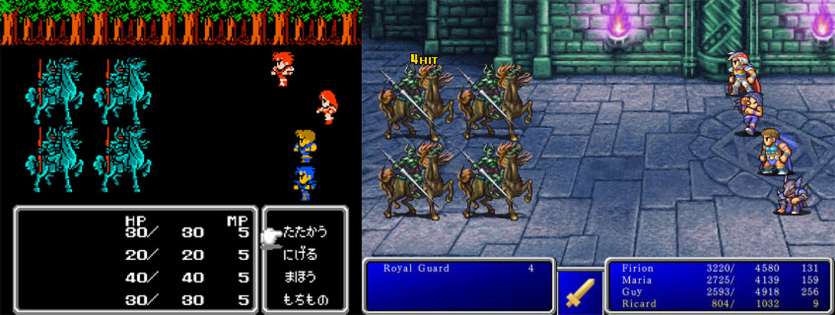 Original Final Fantasy II vs. iOS remaster