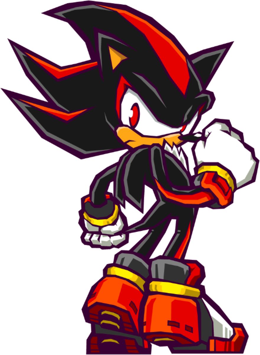 Shadow should have to locate and destory all the Gizoid Factories hidden on Earth for Sonic Battle 2.