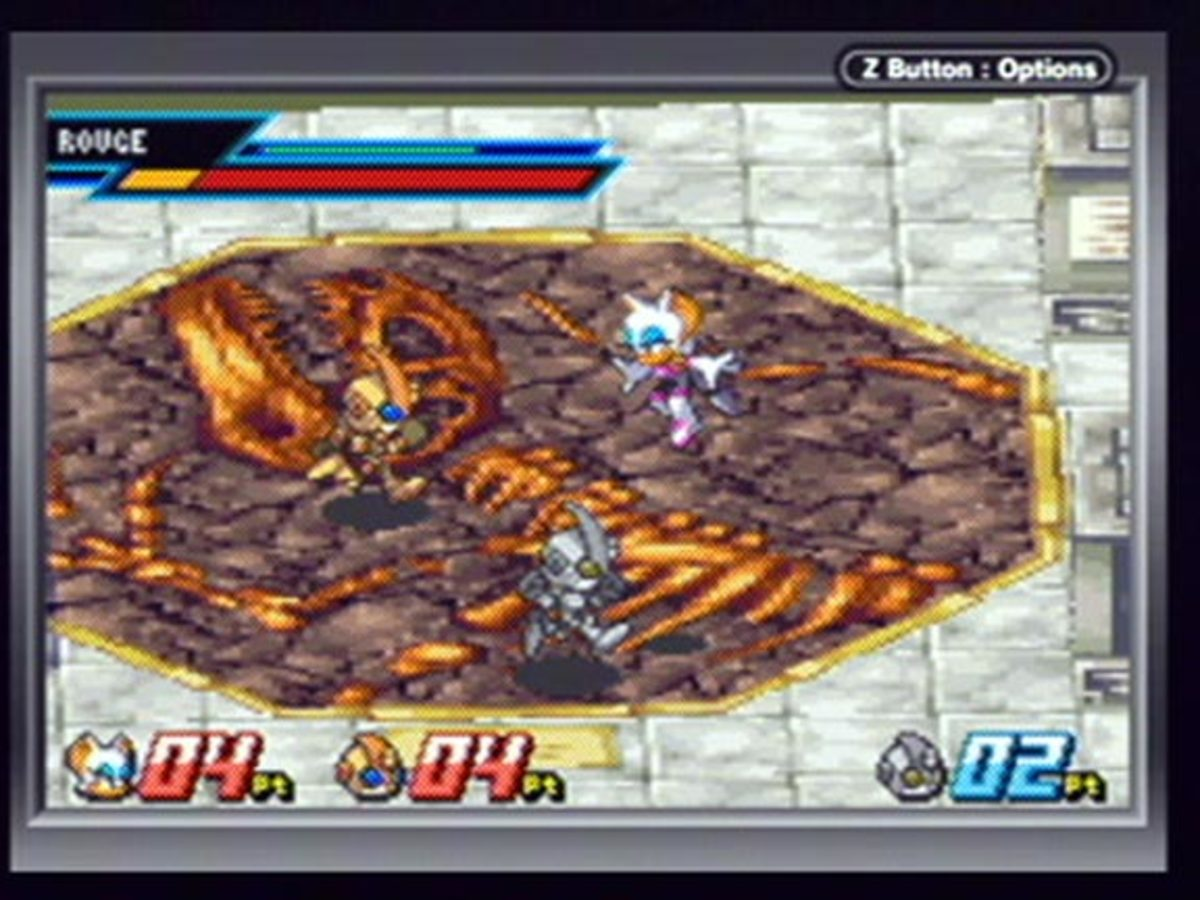 The Nintendo DS's additional buttons, Touch Screen and Microphone should be used in Sonic Battle 2.