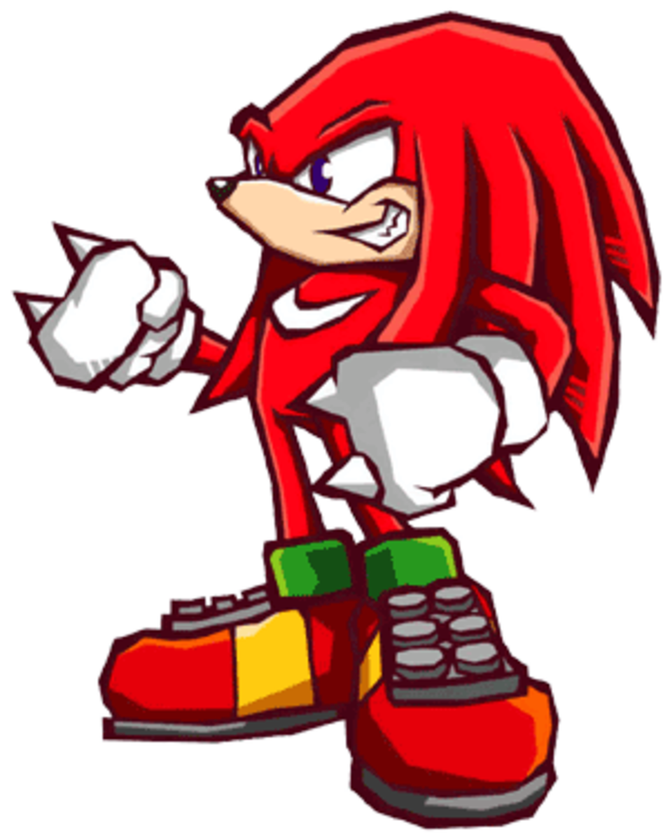 Knuckles' quest should be to protect the Master Emerald from the Nocturnus invaders in Sonic Battle 2.