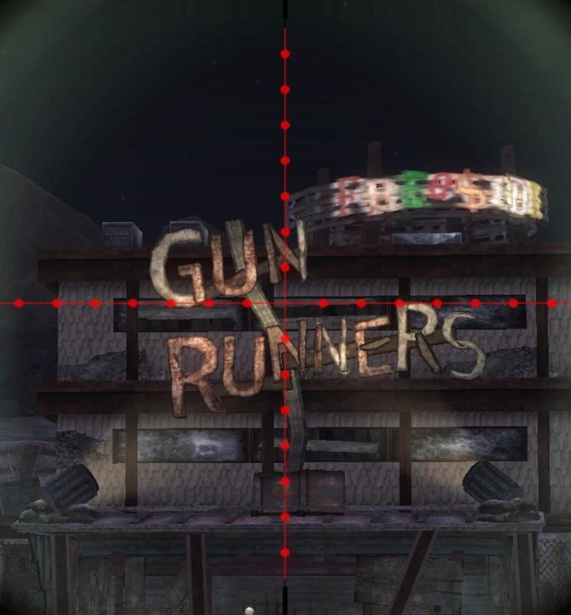 Gun Runner's is a sniper's favourite place to shop.