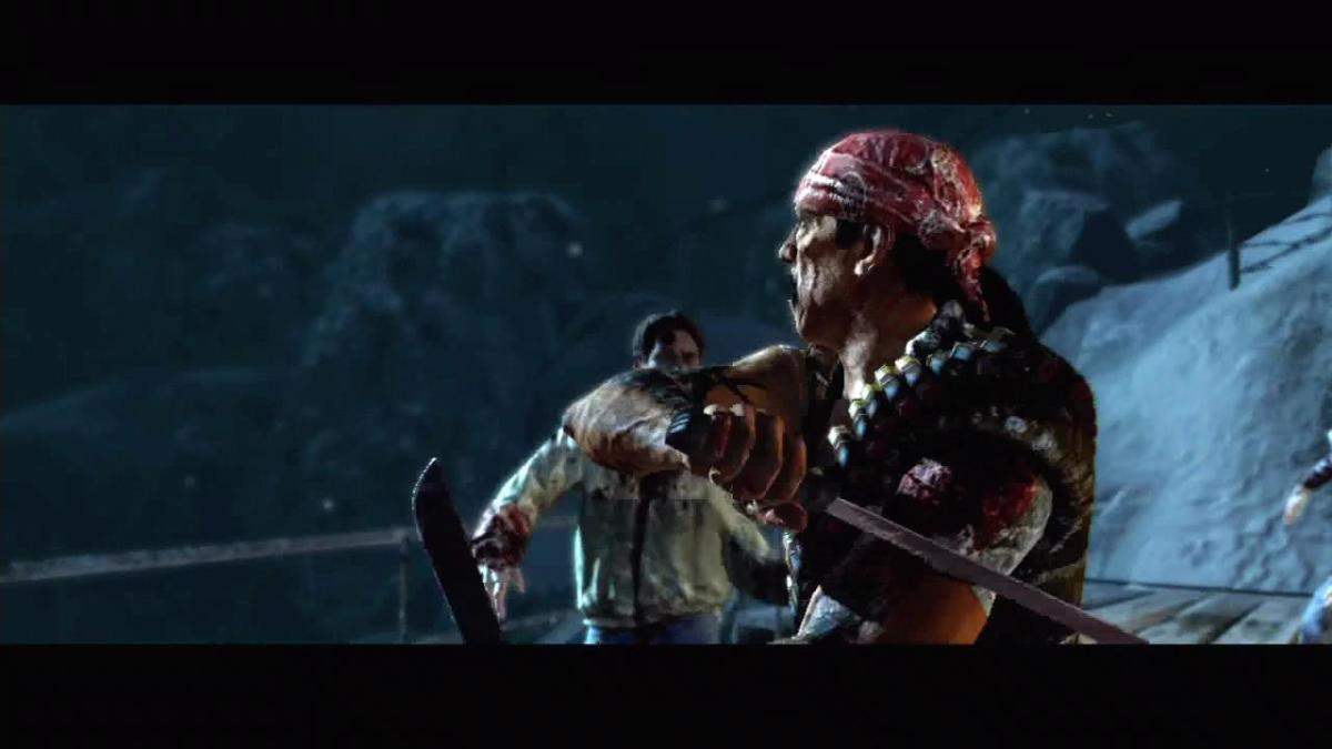 "Screenshot of Danny Trejo in ""Call of the Dead"" Zombies."