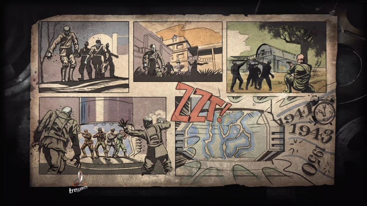 "Loading screen to ""Kino Der Toten"" Zombies map."