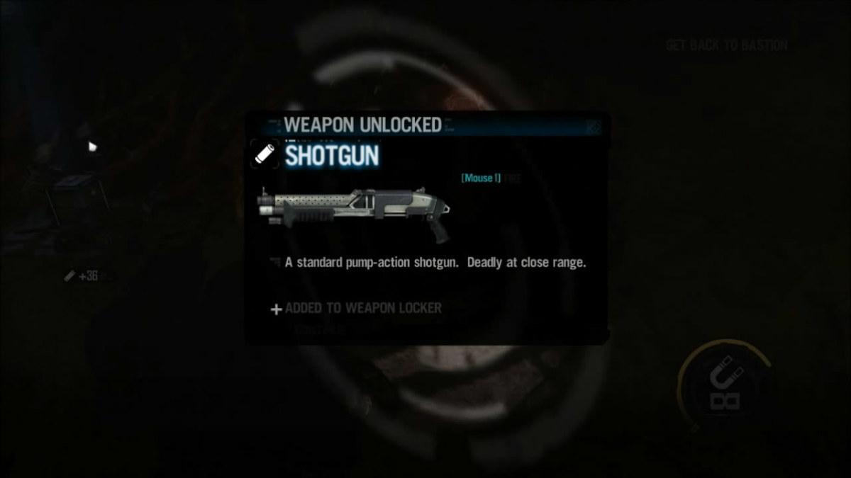 Picking up the Shotgun in Red Faction Armageddon.