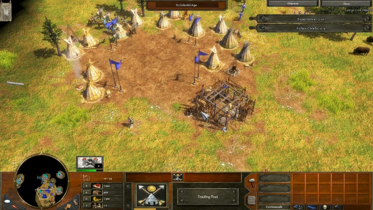Building the Trading Post at the Lakota village in the mission Respect of AoE 3.