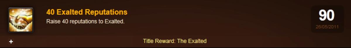 My Character's Achievement