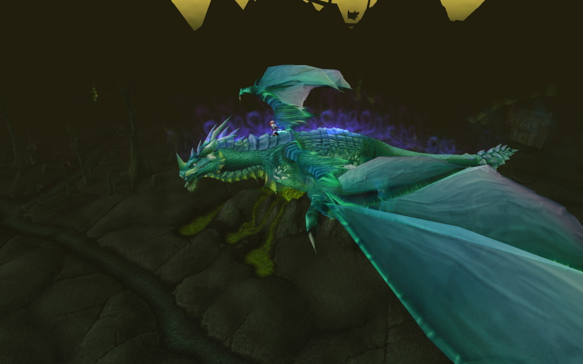 Flying to Shattrath City (CC Share)