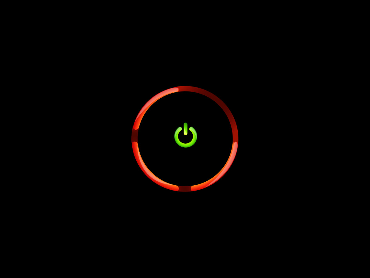 Three red lights on Xbox.