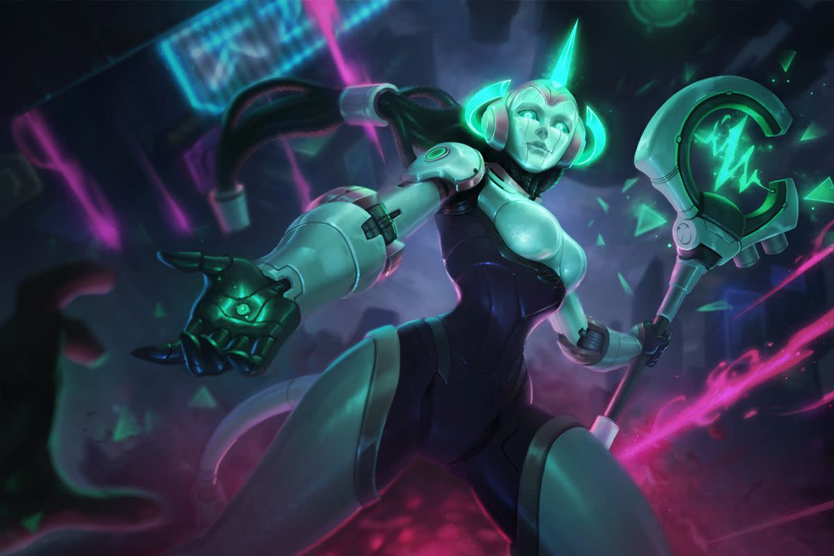 Soraka is an iconic healer, and even has a global heal.