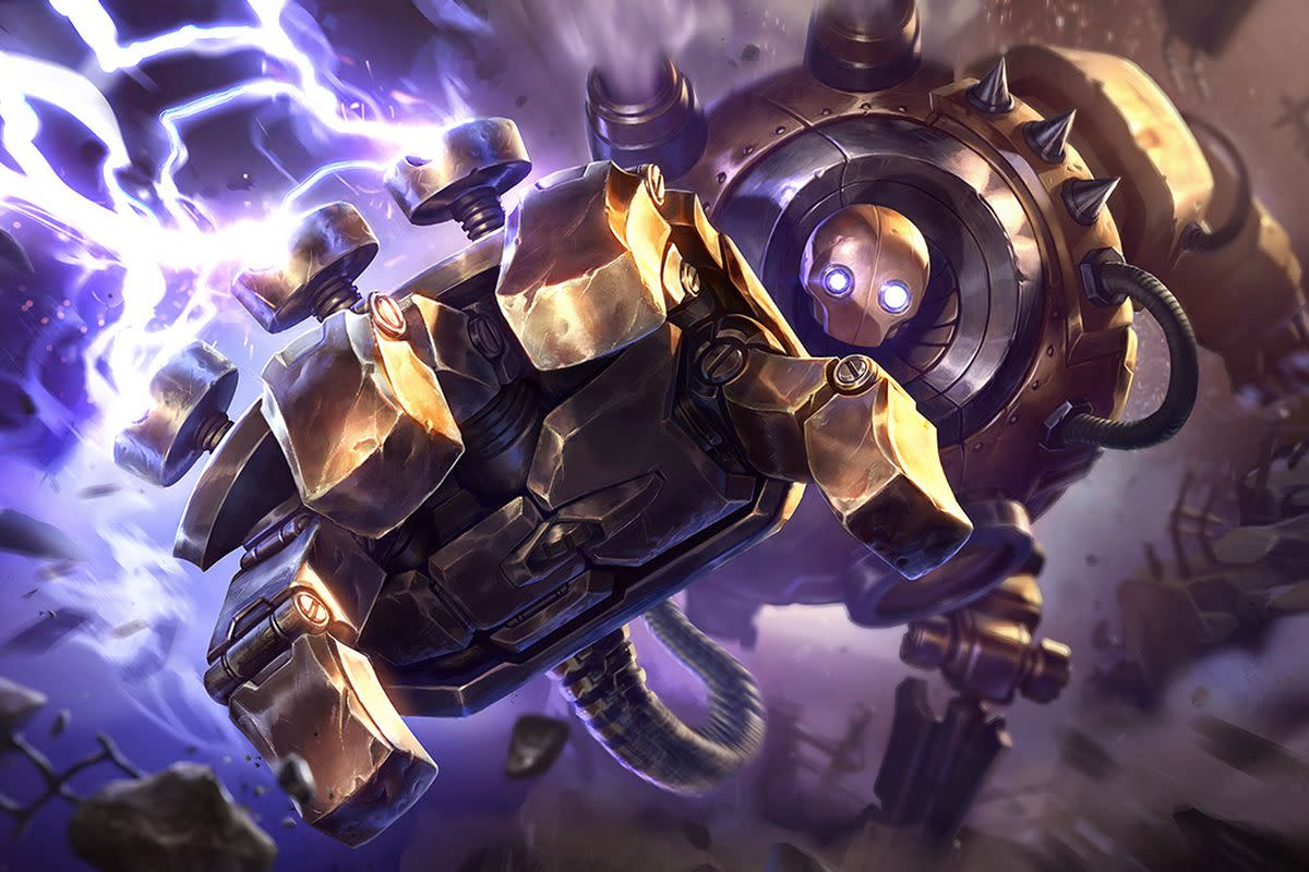 Blitzcrank can pull enemy champions towards himself, and is great for hard engage, making picks, and countering squishy lane opponents.