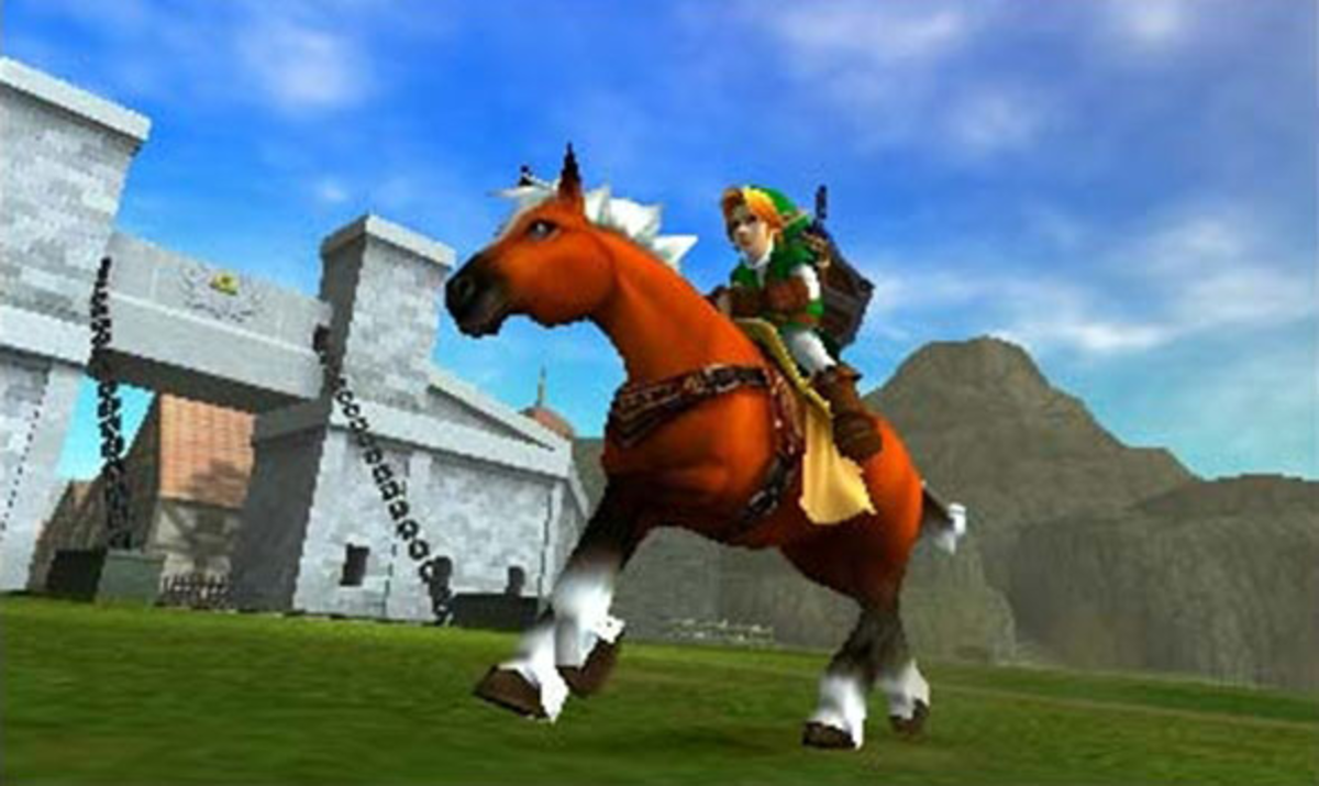 "The 3DS version of ""Ocarina of Time."""