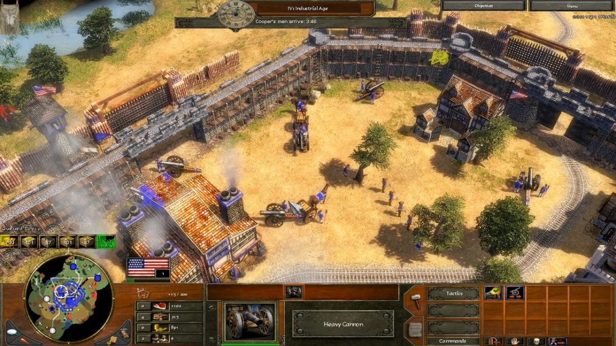 Producing Heavy Cannons with the Factory to defend the walls.
