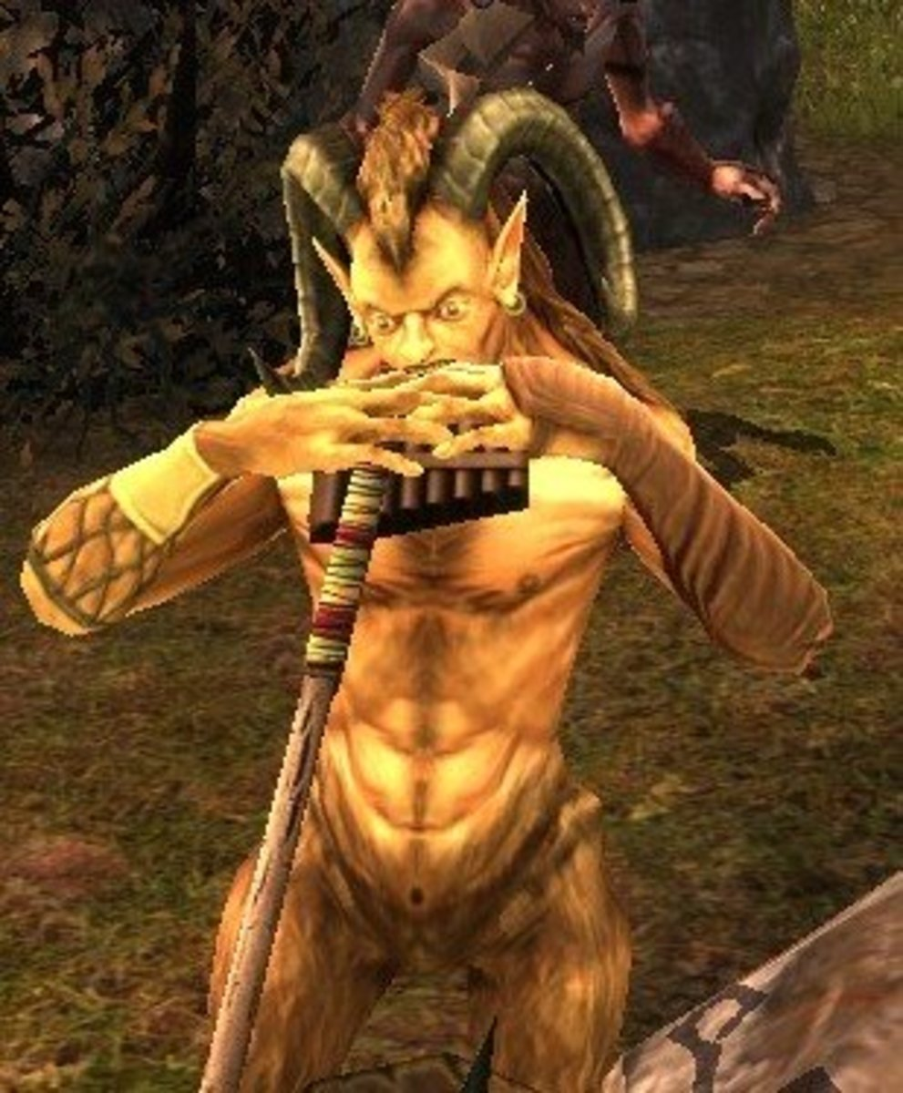 A satyr in the game. The character models aren't cutting edge, but they're above adequate.