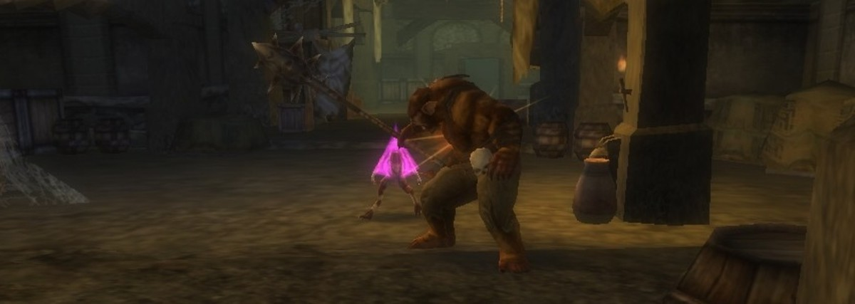 The bugbear is trying to deal with charmed kobolds in this screenshot.