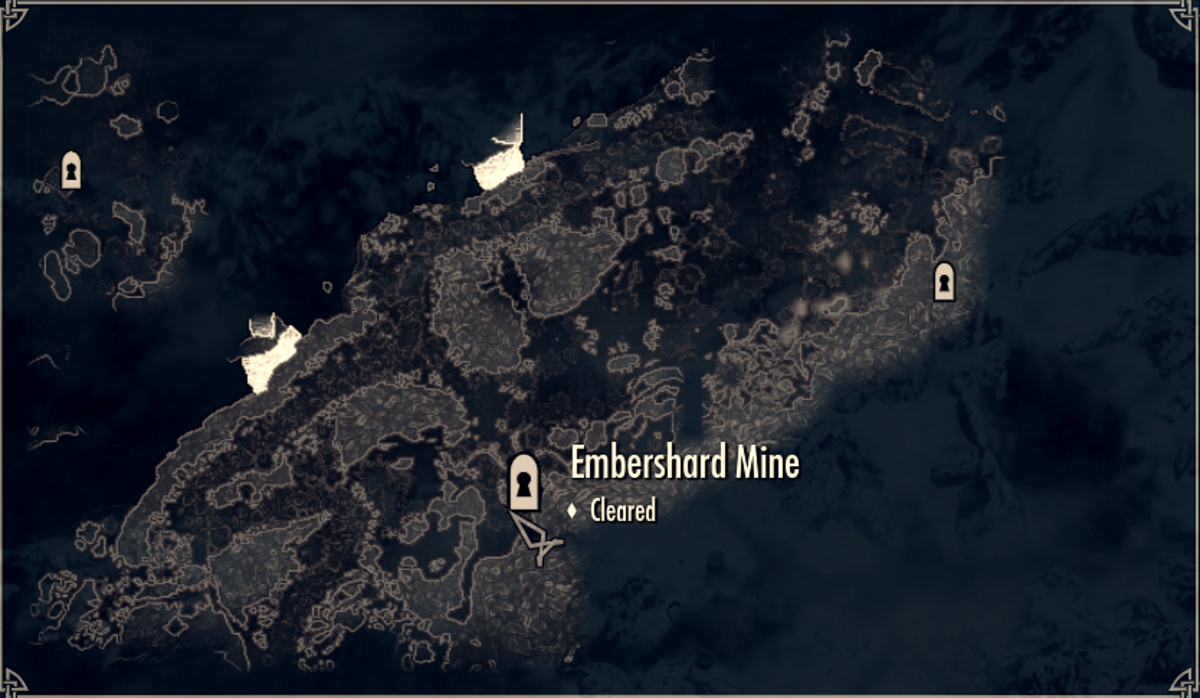 Embershard Mine on the Local Map