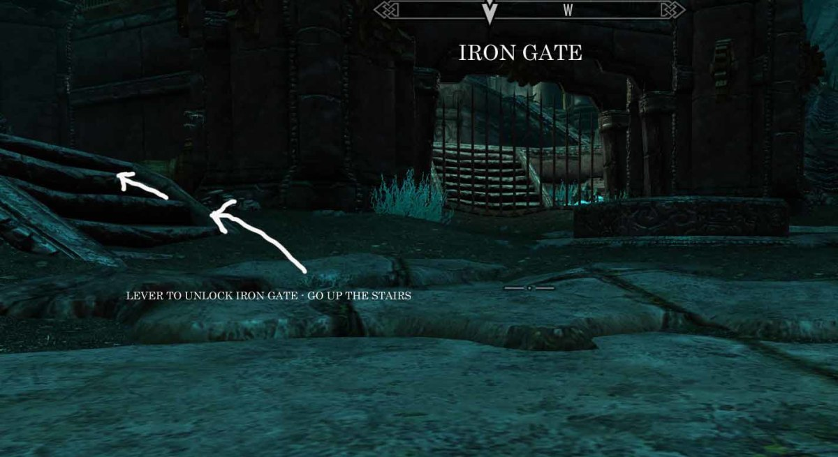 Skyrim Unlocking the Iron Gate Outside the Alftand Cathedral