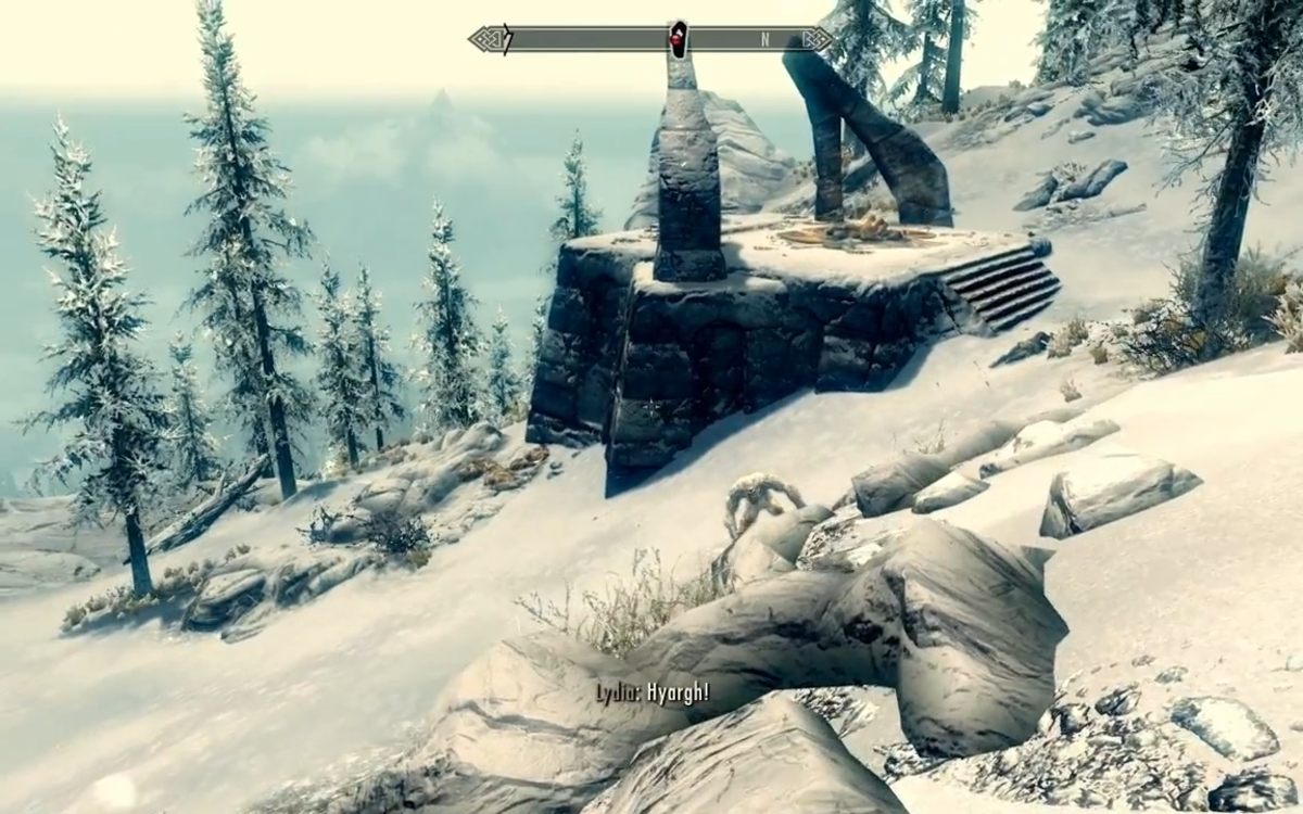 A Frost Troll that ended up clearing out the Bandits before I arrived.