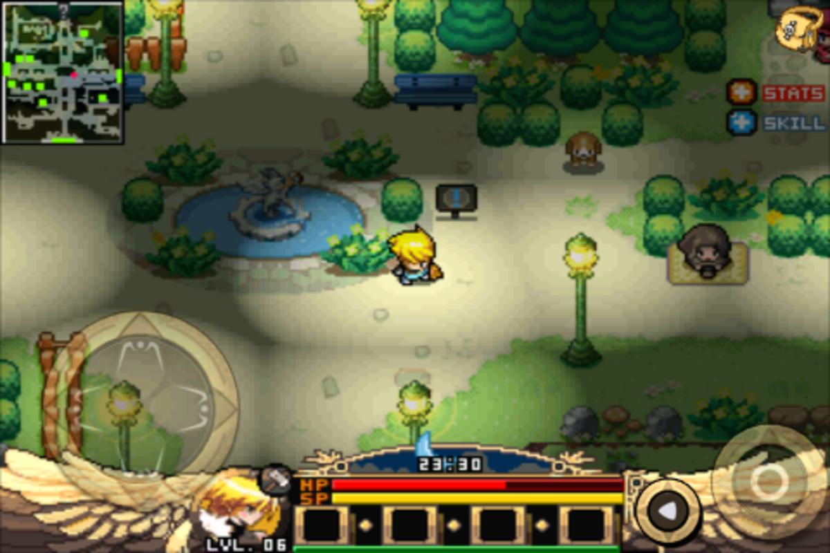 Zenonia gameplay on the iPhone