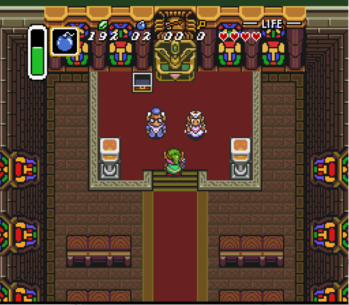 Sanctuary from A Link to the Past looks very much like a Christian church.