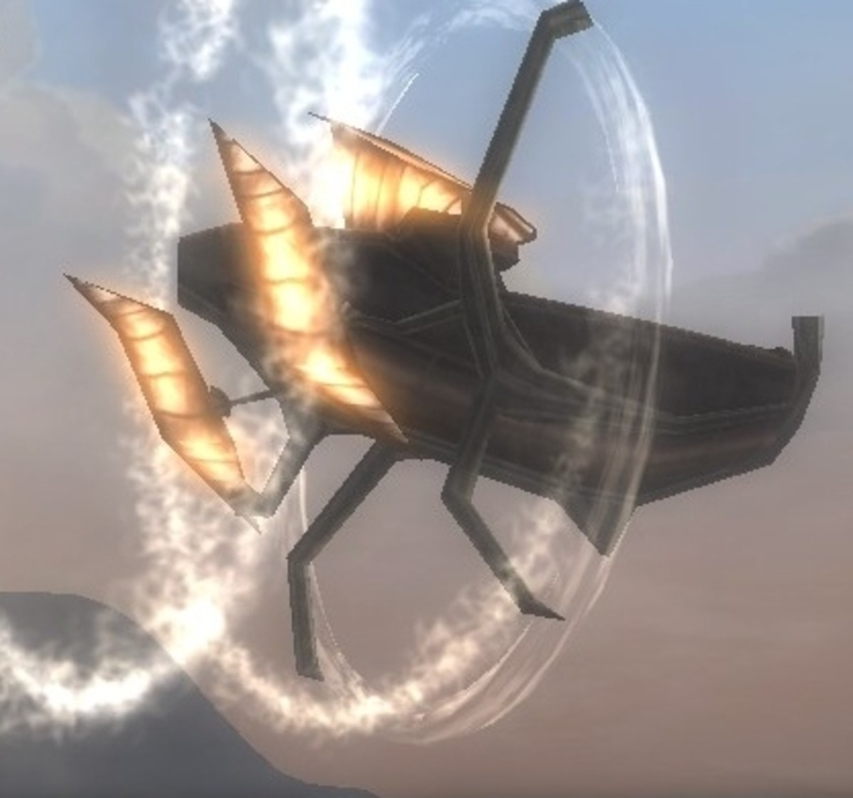 An added luxury of guild membership is access to the guild's airship.