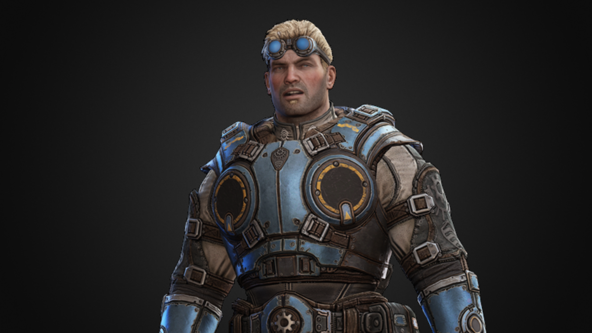 Damon Baird, the snarky lieutenant from Gears of War 1.
