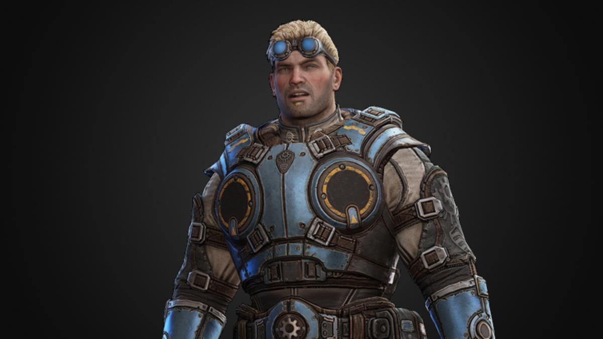 """Damon Baird, the snarky lieutenant from """"Gears of War 1."""""""