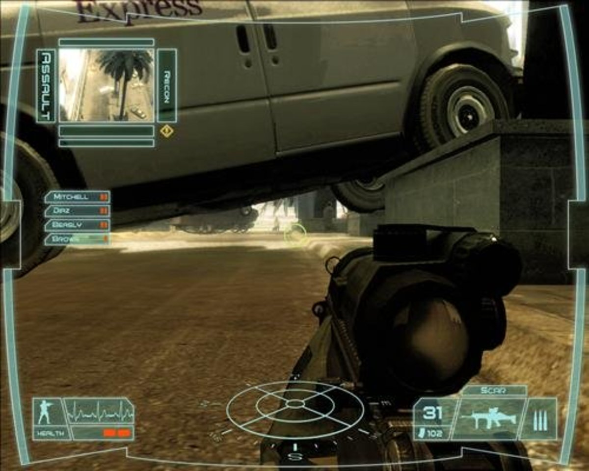 """Think strategically and use your resources to stay alive in """"Ghost Recon: Advanced Warfighter."""""""