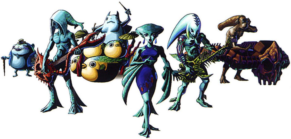 The Indigo Go's are a popular Zora band.