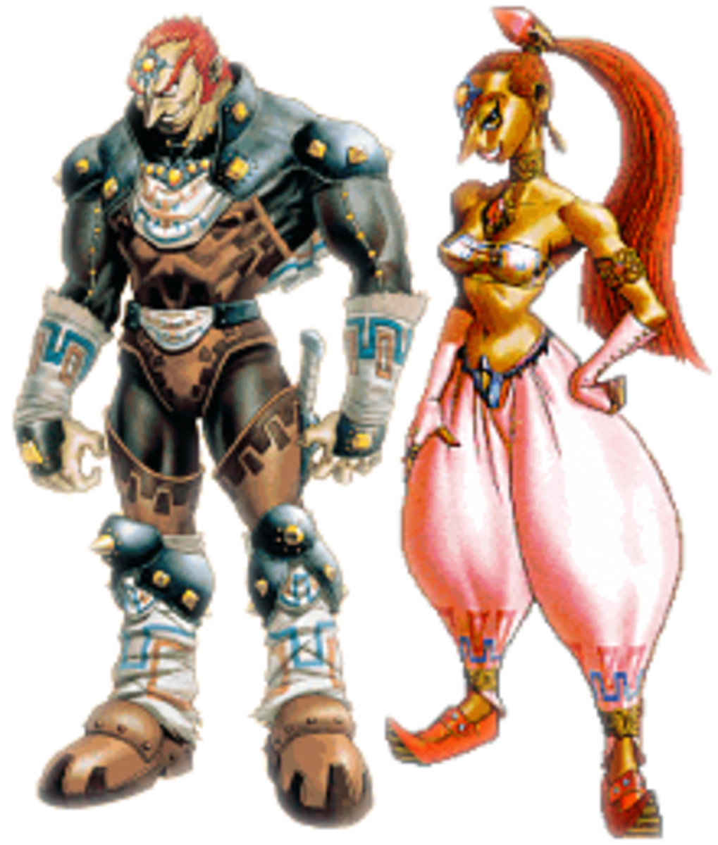 Ganondorf and Nabooru, the two most famous Gerudo.