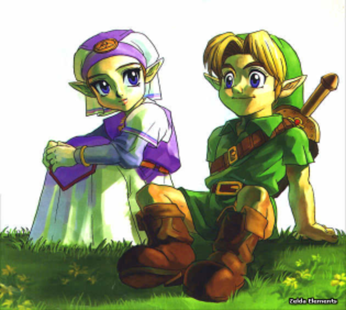 Link and Princess Zelda, the two most famous Hylians.