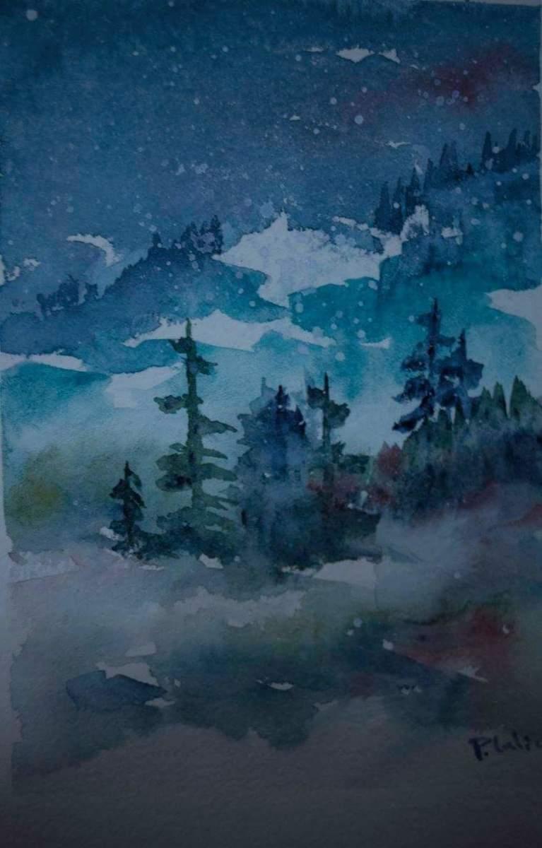 Christmas Card Watercolor Art