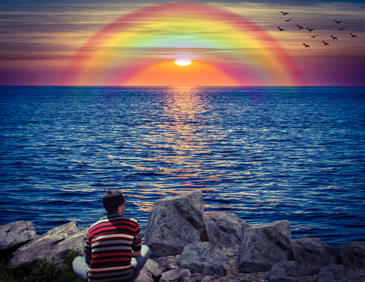 Rainbow is the representation of surpassing the touchstone.