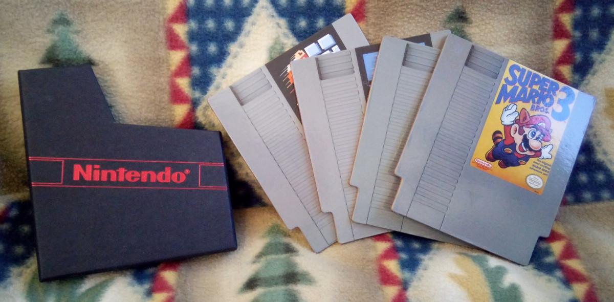 NES Cartridge Coasters - Nintendo CultureFly Collector Box