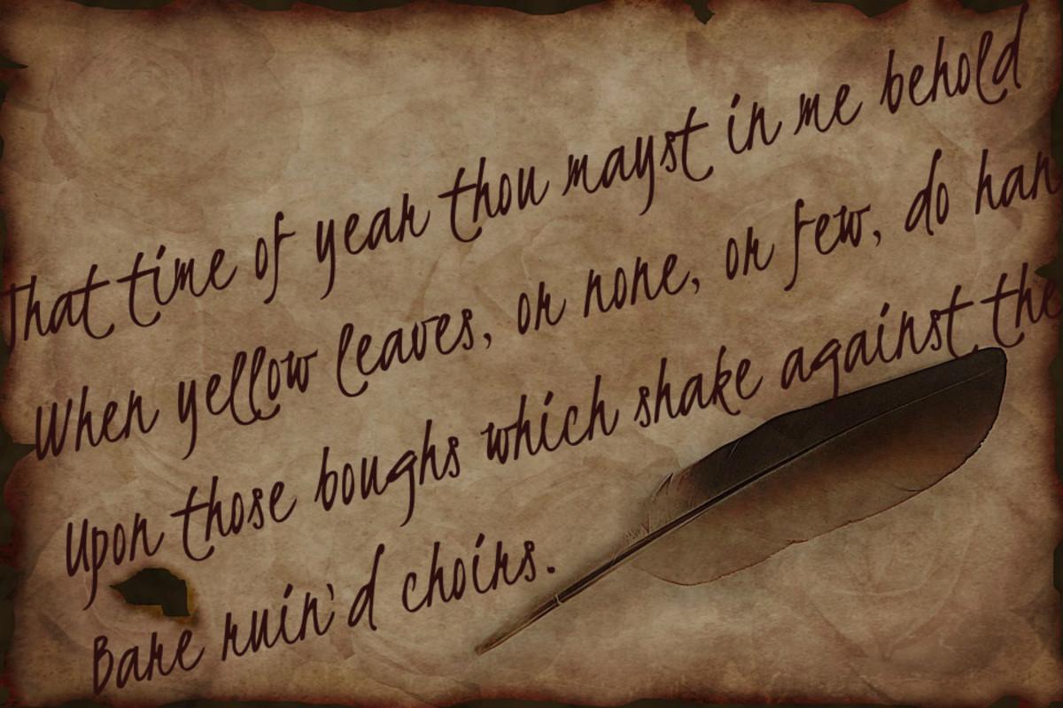 Analysing William Shakespeare's Sonnet 73
